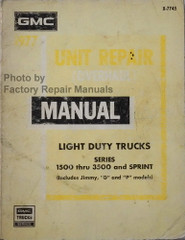 1977 GMC Truck Suburban Jimmy Van Unit Repair (Overhaul) Manual