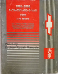 1994-1995 P-Chassis and G-Van 1994 C/K Truck 6.5 Diesel/Turbo Diesel Electrical Diagnosis Manual Supplement