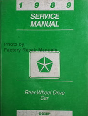 1989 Service Manual Chrysler Rear Wheel Drive Car Fifth Avenue Diplomat  Caravelle Gran Fury