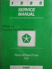 1989 Service Manual Chrysler Rear Wheel Drive Car Fifth Avenue Diplomat  Caravelle Gran Fury