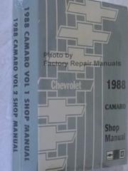 1988 Chevrolet Camaro Service Manual Volume 1, 2 Spine View