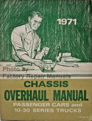 1971 Chevrolet Passenger Cars and Light Duty Truck Overhaul Manual