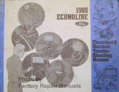 1988 Econoline Ford Electrical & Vacuum Troubleshooting Manual