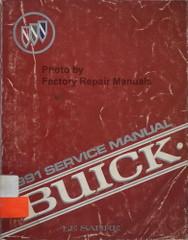 1991 Buick Regal Service Manual