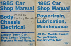 1985 Town Car, Crown Victoria, Grand Marquis Shop Manuals
