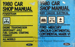 1980 Ford LTD Lincoln Continental Mark VI Mercury Marquis Service Manual Set