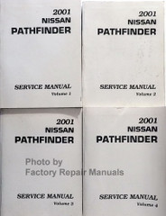 2001 Nissan Pathfinder Service Manual - Late Models Volume 1, 2, 3, 4