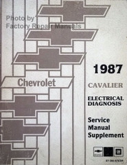 1987 Chevy Cavalier Electrical Diagnosis Service Manual Supplement