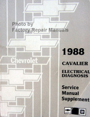1988 Chevy Cavalier Electrical Diagnosis Service Manual Supplement
