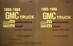1965 1966 GMC Truck Van Suburban 1000-5000 Service Manual