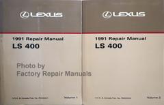 1991 Lexus LS400 Repair Manual Volume 1, 2