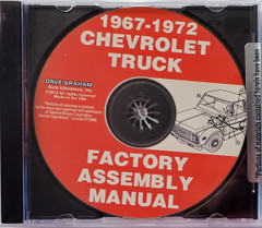 1967-1972 Chevy and GMC Truck Assembly Instruction Manual CD