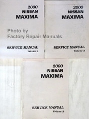 2000 Nissan Maxima Factory Service Manual Late VINs Volume 1, 2, 3