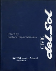 Honda Service Manual 1994 Civic Del Sol Original