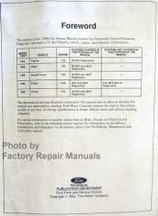 1993 Ford Festiva Escort Probe Mercury Capri Tracer Powertrain Control and Emissions Diagnosis Service Manual