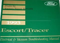 1993 Ford Escort and Mercury Tracer Electrical Vacuum & Troubleshooting Manual