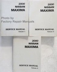 2000 Nissan Maxima Service Manual Set (Early VIN's)
