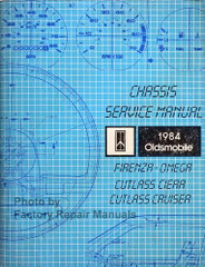 1984 Olds Cutlass Ciera, Cruiser Firenza Omega Service Manual