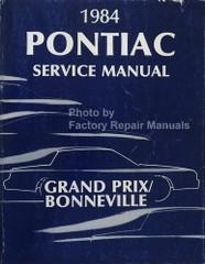 1984 Pontiac Grand Prix Bonneville Parisienne Service Manual