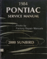 1984 Pontiac J2000 Sunbird Service Manual