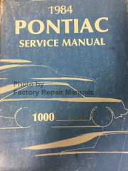 1984 Pontiac 1000 Service Manual