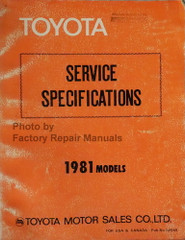 1981 Toyota Service Specifications Manual