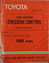 1981 Toyota 22R Engine Emission Control Repair Manual