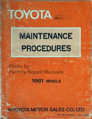 1981 Toyota Maintenance Procedures Manual