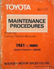 1981.5 Toyota Pickup L Series Diesel Engine Maintenance Procedures
