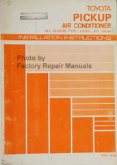 1981 Toyota Pickup Air Conditioner Installation Instructions