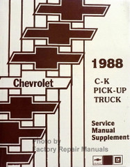 1988 Chevrolet C-K Pick-up Truck Service Manual Supplement