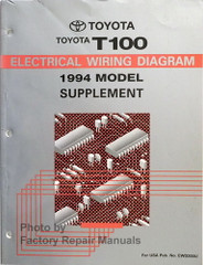 1994 Toyota T100 Electrical Wiring Diagrams Supplement