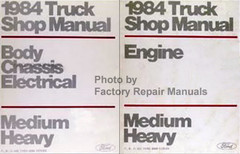 1984 Truck Shop Manual Engine Body Chassis Electrical Medium, Heavy Volume 1, 2