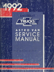 1992 Chevy Astro Van Service Manual