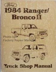 1984 Ford Ranger, Bronco II Shop Manual