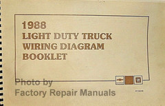 1988 Chevrolet Light Duty Truck Wiring Diagrams Booklet