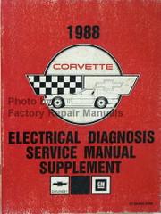1988 Chevy Corvette Electrical Diagnosis Service Manual