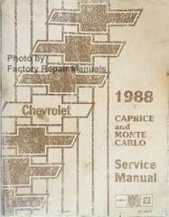 1988 Chevrolet Caprice Monte Carlo El Camino Service Manual