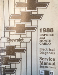 1988 Chevy Caprice Monte Carlo Electrical Diagnosis Service Manual