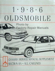 1986 Oldsmobile Electrical Diagnosis Manual Supplement
