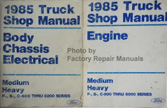 1985 Truck Shop Manual Engine Body Chassis Electrical Medium, Heavy Volume 1, 2