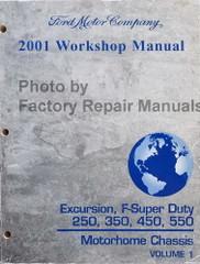 2001 Ford F250 F350 F450 F550 Super Duty Truck, Excursion Factory Shop Service Manual - Volume 1