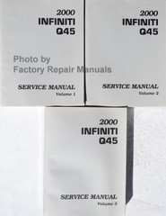 2000 Infiniti Q45 Service Manual Volume 1, 2, 3