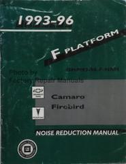 1993-1996 Chevy Camaro Pontiac Firebird Noise Reduction Manual