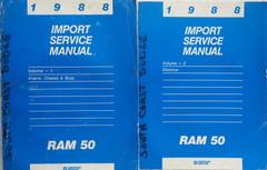1988 Dodge Ram 50 Service Manual Volume 1, 2