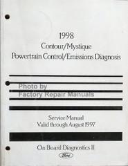 1998 Ford Contour and Mercury Mystique Powertrain Control / Emissions Diagnosis Service Manual