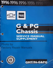 1996 Chevy GMC G & PG Service Manual Supplement