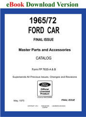 1965 - 1972 Ford Car Master Parts and Accessory Catalog Download