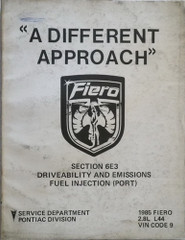 1985 Pontiac Fiero V6 Fuel and Emissions Manual