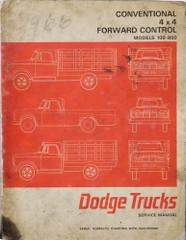 1966 Dodge Pickup Truck 100-700 Service Manual